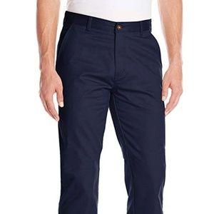 IZOD Uniform Men's Classic Flat Front Twill Pants